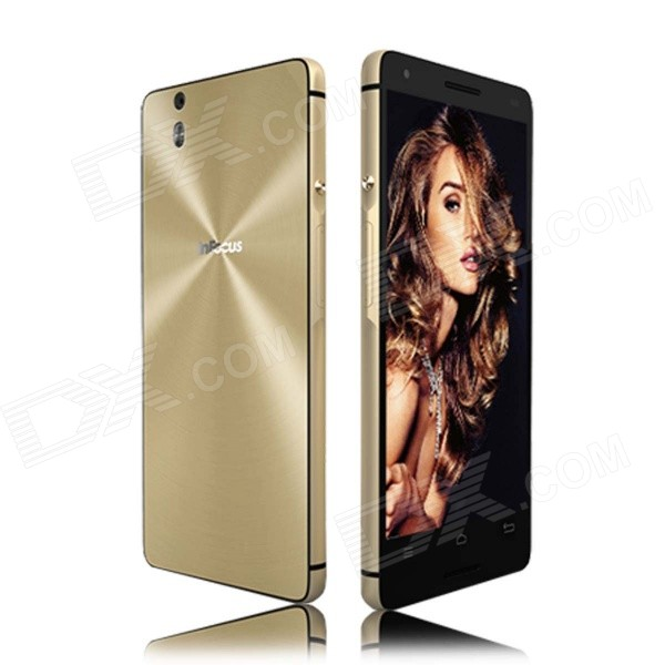 InFocus M810 Android 4.4.2 Quad-Core WCDMA Smart Phone w/ 5.5 Screen, 16GB ROM, Wi-Fi, GPS - Golden зарядное устройство apple usb 5w для iphone ipod md813zm a md813zm a