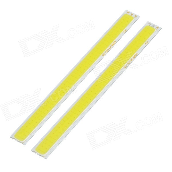 JR-LED 7W 300lm 84-COB LED Cool White + Yellow Light Module - White + Beige (DC 12~13V / 2 PCS) eipstar jr 3w 180lm 5600k natural light led module white 5 pcs