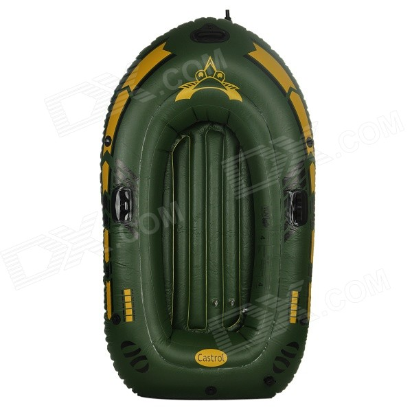 Double Thickened Hovercraft PVC Board w/ Oars - Army Green