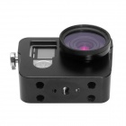 Fat Cat CNC Aluminum Alloy Heat-Sink Case w/ 37mm MCUV Lens for GoPro Hero 4 - Black