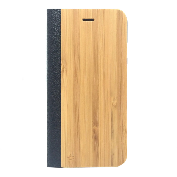 "Protective PU Leather + PC + Bamboo Case for IPHONE 6 4.7"" - Yellow + Black"