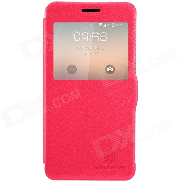 NILLKIN Protective PU Leather + PC Case Cover for Samsung Galaxy Alpha G850F - Red nillkin protective pu leather pc case cover for htc d316d d516t red