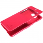 NILLKIN protection en cuir PU + PC Housse pour Samsung Galaxy Alpha G850F - Rouge