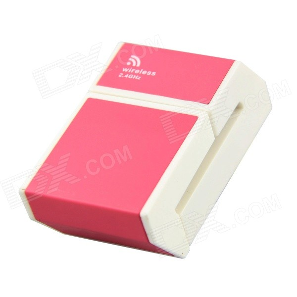 2.4GHz Wireless Laser Pointer / Air Mouse for IPHONE / PC - Pink + White