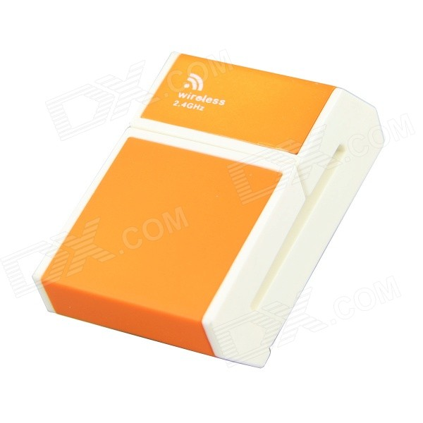 2.4GHz Wireless Laser Pointer / Air Mouse for IPHONE / PC - Orange + White