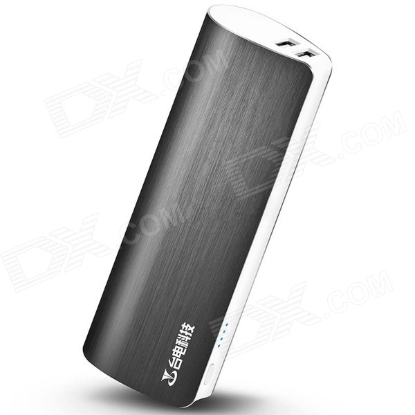 Teclast T100J-R 5V 10000mAh Dual USB Li-ion Power Bank w/ LED Indicator - Gray тарелка под пасту 25 5 см royal porcelain тарелка под пасту 25 5 см