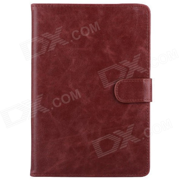 Mr.northjoe Protective PU Leather Case w/ Stand / Auto Sleep for IPAD MINI 1 / 2 / 3 - Brownish Red mr northjoe protective pu leather case w stand auto sleep for ipad mini 1 2 3 dark brown
