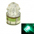 K002 Underwater Fishing Luring LED Attraction Light Lamp - Green + Transparent