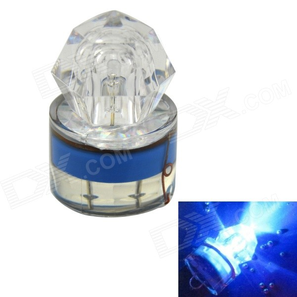 K002 Underwater Fishing Luring LED Attraction Light Lamp - Blue + Transparent
