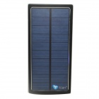 Itian Universal Dual-USB Output 15000mAh Li-po Solar Energy Power Bank - Black