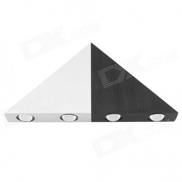 5W 450lm 5-LED Multi-Color Up & Down Spotlight Sconce Lighting Wall Lamp - White + Black (AC85~265V)