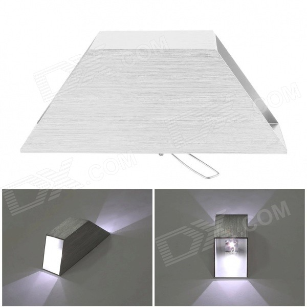 2W 180lm 5000K 2-LED White Light Up & Down Spotlight Sconce Lighting Wall Lamp - White (AC 85~265V) 3w triangle led wall lamp modern home lighting indoor and outdoor decoration light ac85 265v high power led