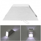 2W 180lm 5000K 2-LED White Light Up & Down Spotlight Sconce Lighting Wall Lamp - White (AC 85~265V)