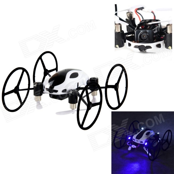318B 4-CH 2.4GHz 6-Axis R/C Quadcopter w/ Gyro / 300KP Camera / SD Slot - White + Black