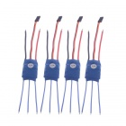 12A Brushless ESC 4-Axis Multi-rotor Motor - Blue (4 PCS)