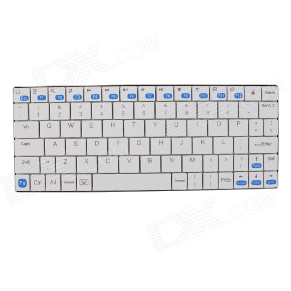 SW-K709 Mini Ultra-thin 80-Key Bluetooth V3.0 Keyboard - White