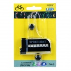 30-Pattern 5050 SMD LED RGB Colorful Bicycle Bike Cycling Wheel Spoke Light - Black (1 x AAA)