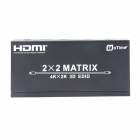 oTime OT-0922E 3D 4K x 2K HDMI 2 x 2 Matrix Video Converter - Black