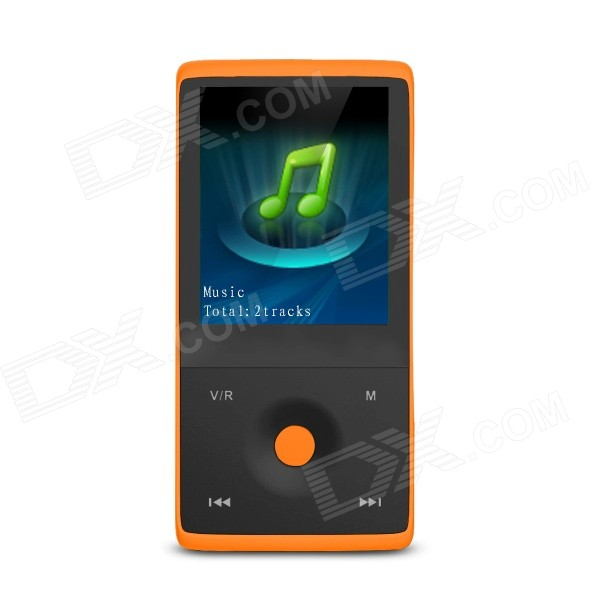 "HOTT MU1036 1,8 ""Bluetooth Lecteur MP3 / MP4 w / FM, enregistrement vocal, 4 Go de mémoire, Micro USB - Orange"