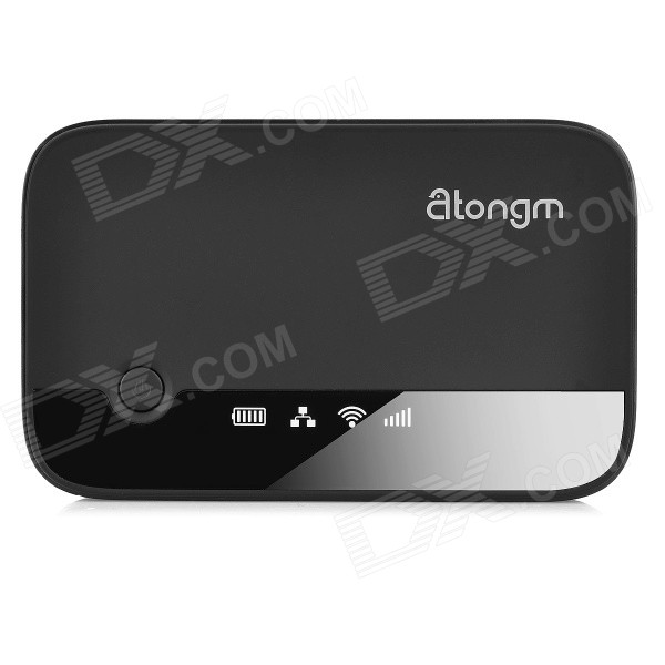Atongm W300 3G WCDMA Mobile Router + 3000mAh Power Bank - Black cheerlink aw268 3g wireless router 2400mah power bank repeater wi fi hotspot multimedia