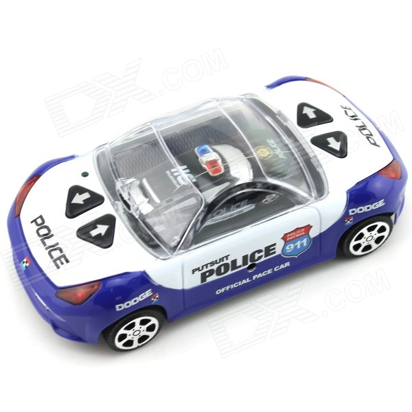 YDL-8809-3 Mini 40MHz 2-CH Remote Control R/C Racing Car - Black + Blue + Multicolor (2 x AA)