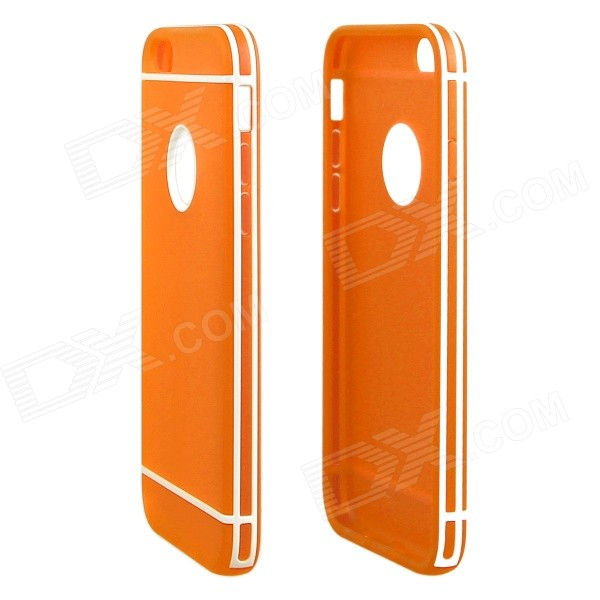 Hat-Prince Protective TPU Back Case with Detachable Plastic Frame for IPHOEN 6 PLUS - Orange nillkin protective matte plastic back case w screen protector for iphone 6 4 7 golden