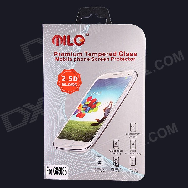 MILO Professional 0.3mm 2.5D Premium Tempered Glass Screen Protector for Samsung G8508S 9h 2 5 d anti spy premium tempered glass screen protector for samsung galaxy note 2