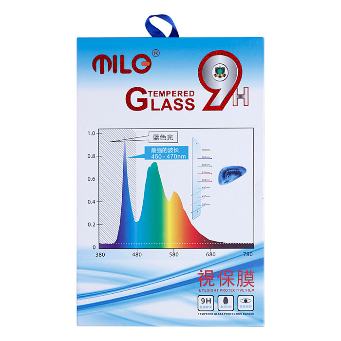 MILO Professional Blue Ray Anti Myopia 0.3mm Tempered Glass Screen Protector for IPHONE 6 Plus 5.5 benks magic xr nano anti blue ray anti explosion full screen protector for iphone 7 plus black