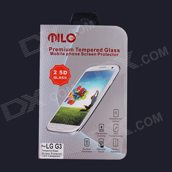 MILO Professional 0.3mm 2.5D Premium Tempered Glass Screen Protector for LG G3 milo new edition third generation high quality premium tempered glass screen protector for ipad mini