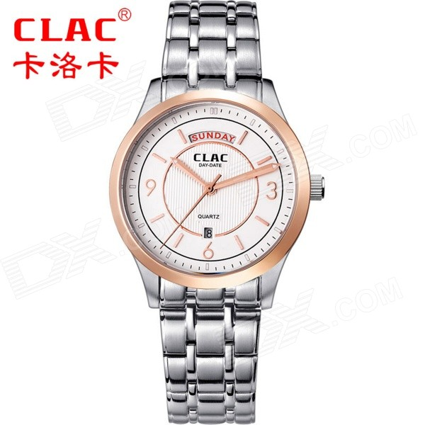 CLAC A7002G Classic Men's Business Style Stainless Steel Analog Quartz Wrist Watch (1 x 626)