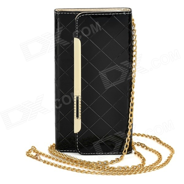 Fashion 2-in-1 Protective PU Case Wallet Bag w/ Card Slot for IPHONE 6 PLUS - Black