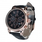 SPEATAK SP9049G Men's Stainless Steel Casing PU Leather Band Analog Quartz Watch (1 x LR626)
