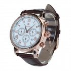 SPEATAK SP9049G Men's Fashion Stainless Steel Casing PU Leather Analog Quartz Watch (1 x LR626)