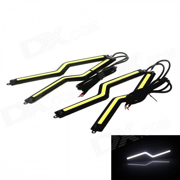 Waterproof 3W 150lm 6000K COB LED Light Daytime Running Lamps - Black (12V / 4 PCS) hghomeart kids led pendant lights basketball academy lights cartoon children s room bedroom lamps lighting