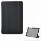 Protective Flip-Open PU + Microfiber Case Cover w/ Stand for Google Nexus 9 - Black