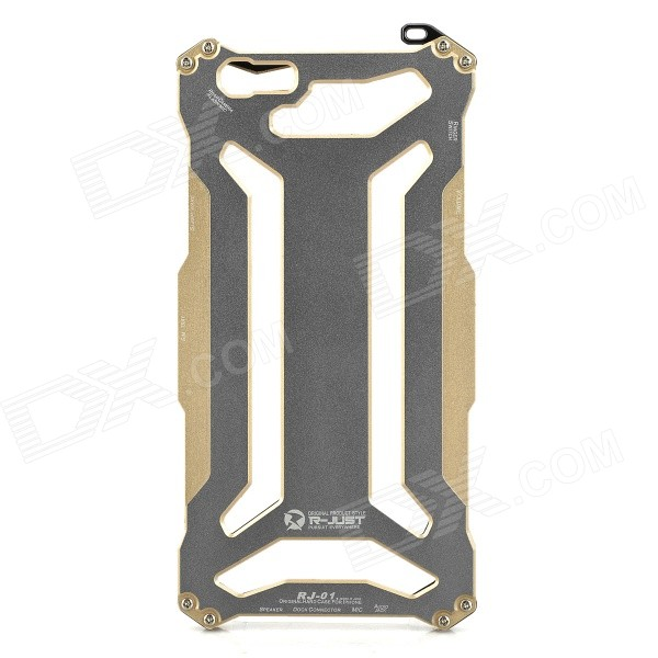 R-JUST Protective Aluminum Alloy Frame Case + Screen Guard Set for IPHONE 6 PLUS - Gold + Grey цена и фото