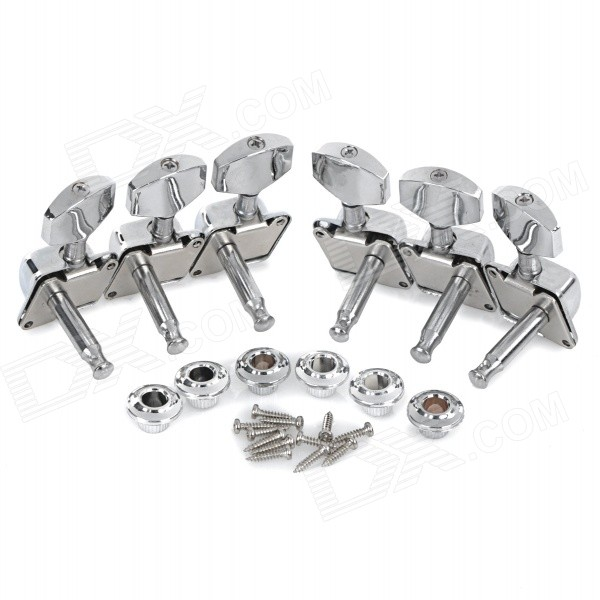 String Knob Tuner for Semi-Closed Folk Acoustic Guitar - Silver (6pcs) капри silver string silver string si021ewruc28