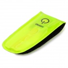 Salzmann Multi-Function Outdoor Cycling Reflective Band + Reflector w/ 3-LED - Fluorescent Yellow
