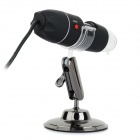 Universal 800X 8.0MP USB Wired microscopio digital w / 8-LED sostenedor / montaje - Negro