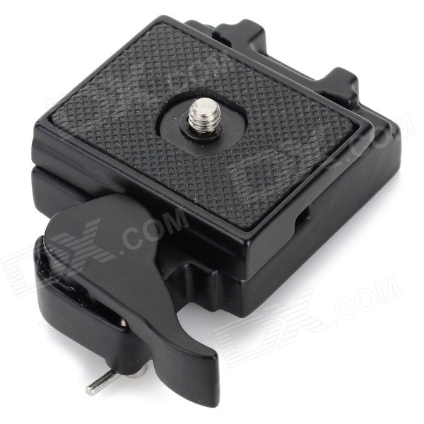 Convenient 1/4 Screw Aluminum Alloy Quick Release Plate - Black