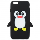 Cute Penguin Style Protective Silicone Back Case for IPHONE 6 - Black + White