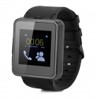 "F1 MTK6260A 1.55"" TFT GSM Smart Watch Phone w/ TF, Bluetooth - Black"