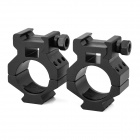 Quick Release Aluminum Alloy Gun Mount Clips for 20mm Rail - Black (2 PCS)