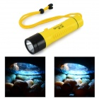 550lm 2-Mode White Light LED Diving Flashlight w/ Strap - Black + Yellow