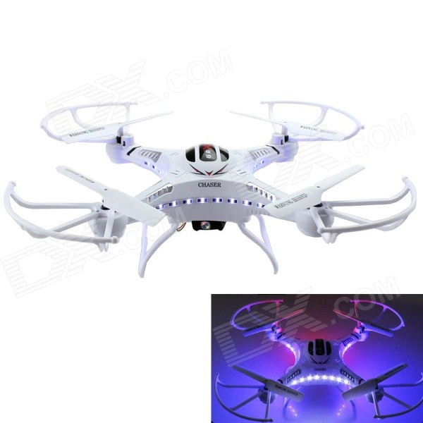 F183 2.4GHz 4-CH R/C Quadcopter w/ Gyro / 2.0MP Camera / LED Display - White + Black + Multi-Color