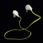 Nameblue T-1 Sport Bluetooth V4.0 Wireless Stereo In-ear Headphone w/ Microphone - White + Green