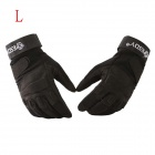 ESDY HYL-1 Anti-slip Outdoor Cycling Climbing Full-Finger PU Tactical Gloves - Black (L / Pair)