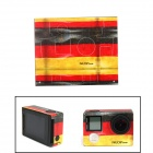 NEOPINE ST-4 Germany Flag 108C Sticker for GoPro Hero 4 Silver Camera - Red + Yellow + Black