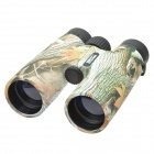 JinJuLi 30x42 Maple Pattern FMC Green Film HD Binoculars Telescope - Brown + Green + Multicolor