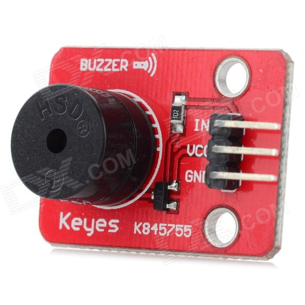 KEYES Buzzer Sound Module for Arduino - Red (Works with Official Arduino Boards) potentiometer module for arduino works with official arduino boards